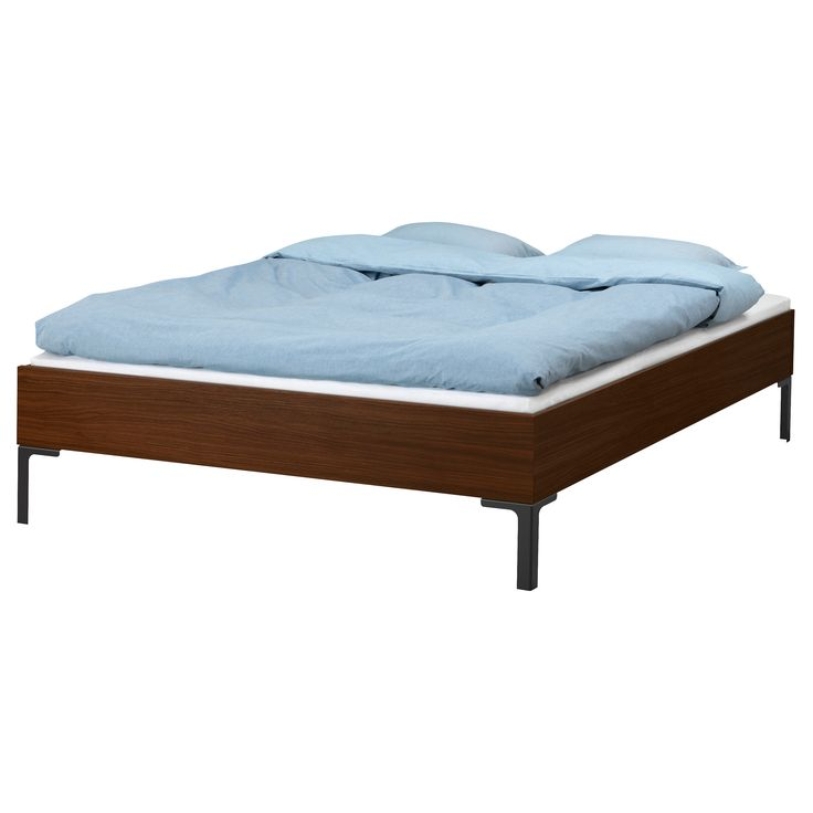 Engan bed frame with slatted bed base 140x200 cm ikea for Bed base ikea