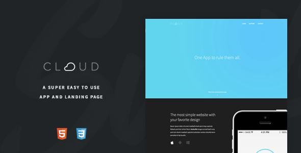 ThemeForest - Cloud - An Easy To Use App Landing Page  Free Download
