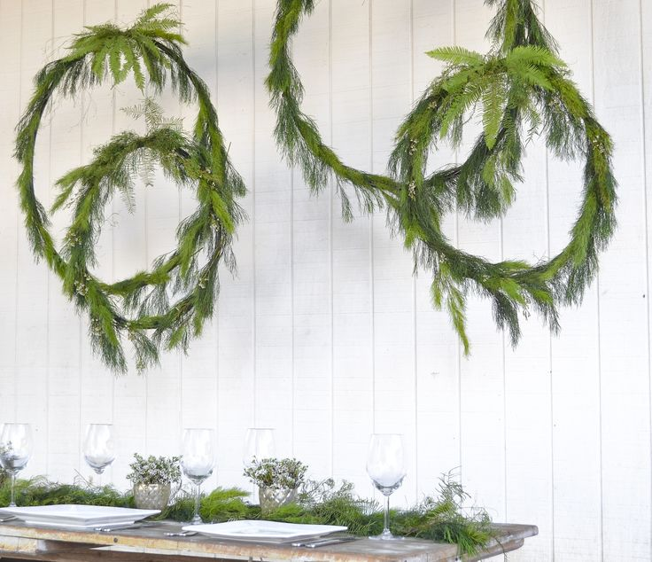 Floral hanging hoops