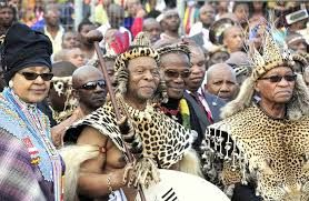 King Zwelithini, President Jacob Zuma and Ex-wife to the late President Nelson Mandela