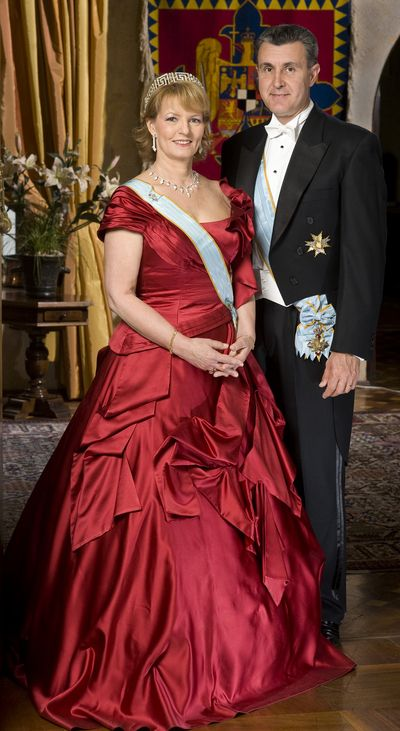 Crown Princess Margareta and Prince Radu of Romania. Margareta is the eldest daughter of King Michael I of Romania and his wife Queen Anne