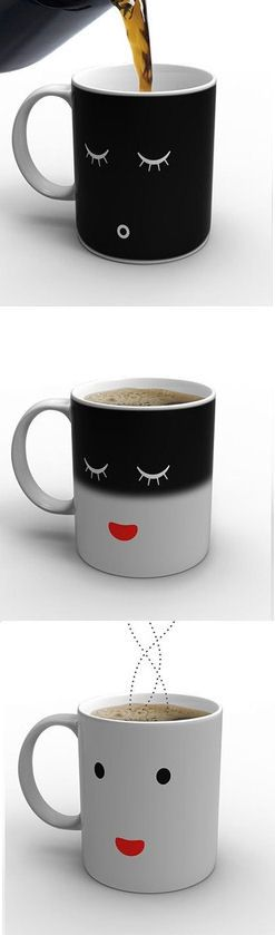 Monday Morning Mug Before Coffee - After Coffee ... I WANT!