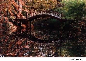 Even Huffington Post calls it one of the most romantic places on Earth -- Crim Dell Bridge.