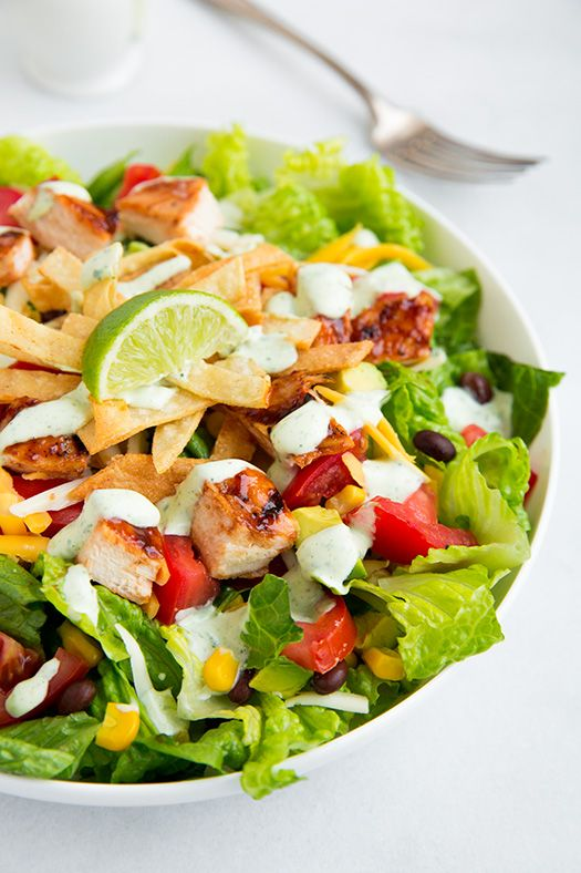 BBQ Chicken Salad with Cilantro Lime Ranch | Cooking Classy