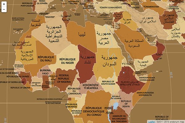 17 best maps images on pinterest maps world maps and cartography these fascinating maps show countries as named in their own languages the week gumiabroncs Choice Image
