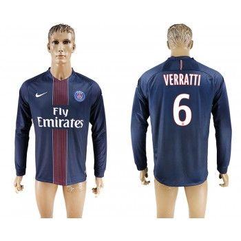 Paris Saint Germain PSG 16-17 Marco Verratti 6 Hemmatröja Långärmad   #Billiga  #fotbollströjor
