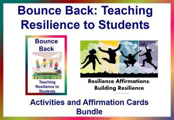 This bundle include 2 of our resources. It includes varied activities on resiliency and the resilience affirmation cards are a great way to further reinforce what they have learned from the activities. It could help them be more positive, be reminded of their