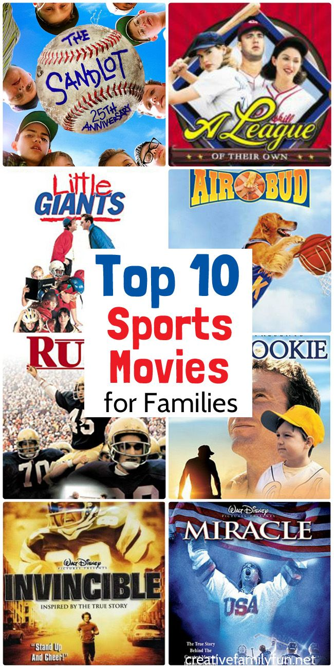 Top 10 Sports Movies For Families Creative Family Fun Sports Movie Family Movies Good Movies To Watch
