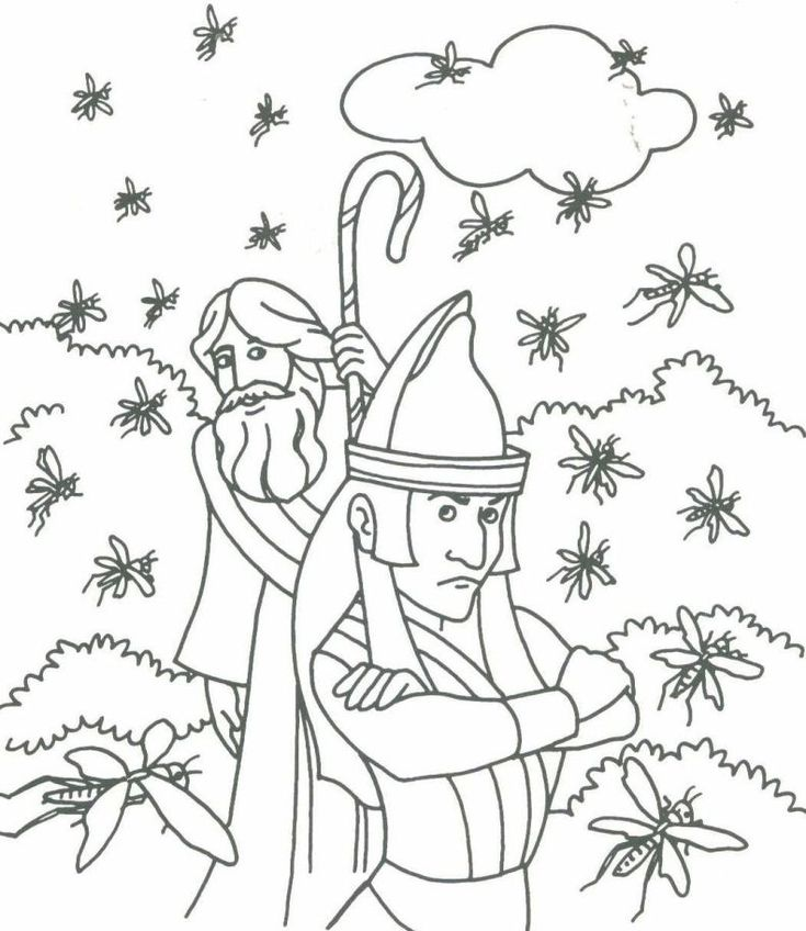 Moses Coloring Page 4 791x912 Pixels