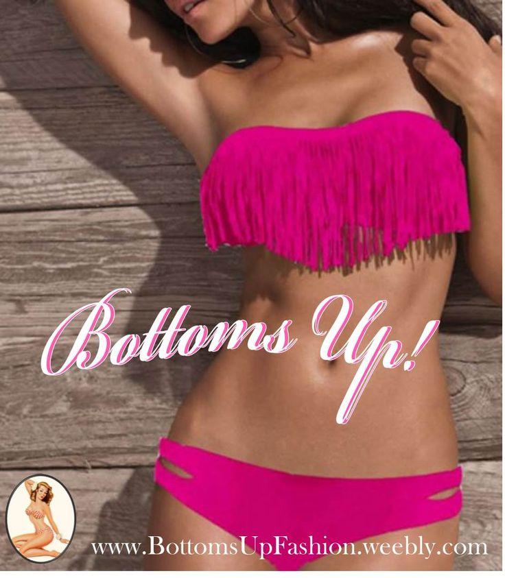 Strapless Tassle Bikini– ROSE Order Code: BU1001RO Sizes: S / M / L Email: bottoms-up-@hotmail.com for orders/enquiries