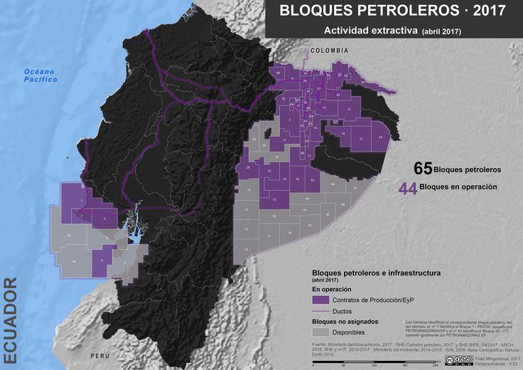Bloques petroleros en Ecuador, abril 2017