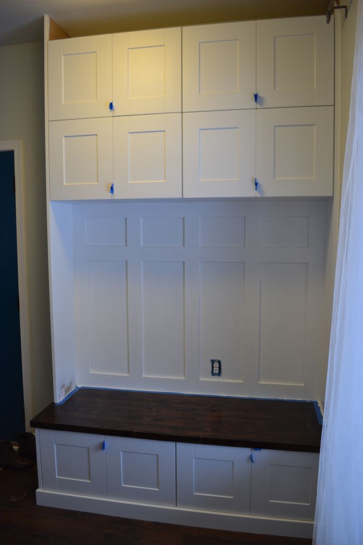 mudroom lockers from prefab cabinets