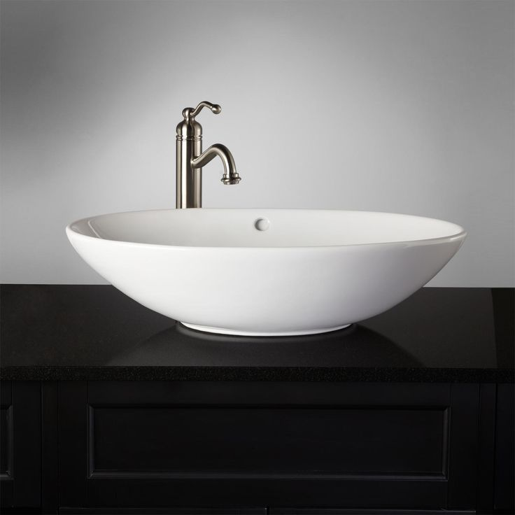 137013 best products images on pinterest brushed nickel oil rubbed bronze and bathroom ideas - Shallow vessel sink ...