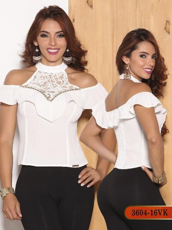 Blusa Moda Colombiana Vikats - Ref. 252 -3604-16 VK Beige
