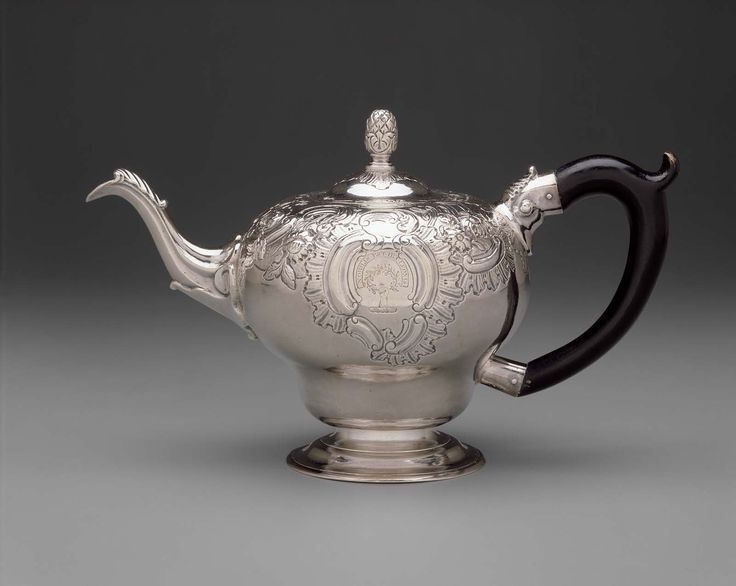 Silver Teapot -  1760–65 -  Paul Revere, Jr. (American, 1734–1818) -  Made in  Boston, Massachusetts,  Dimensions Overall: 14.9cm (5 7/8in.) Medium or Technique Silver
