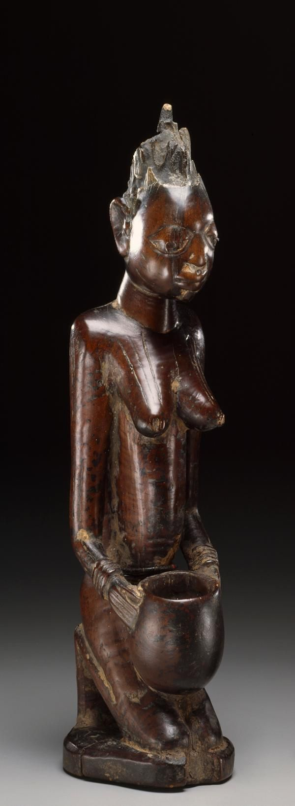 Yoruba Female Bowl Bearing Figure Nigeria Nigeria