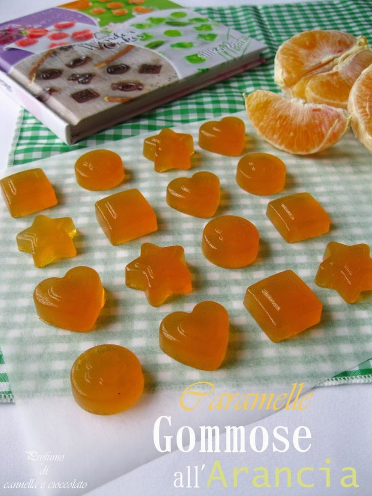 Caramelle gommose all'arancia