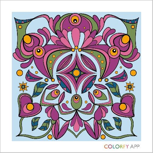 Exotic Colorfy Colorfyapp Getinspired Coloring ExoticColoring BooksAppBeautifulColorsColor