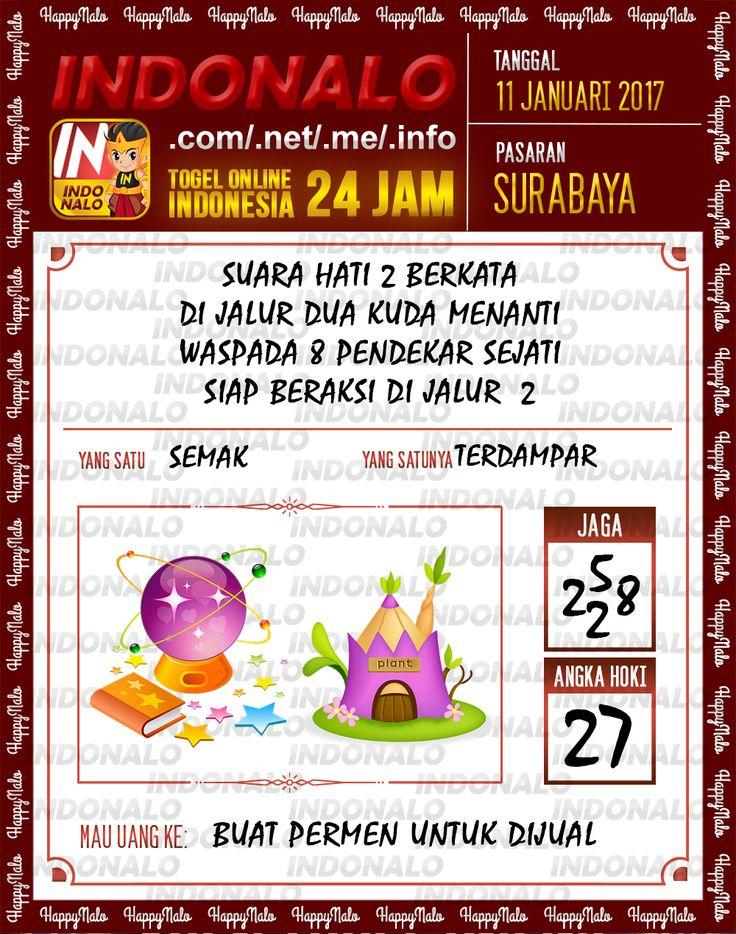 Kode Kumat 3D Togel Wap Online Live Draw 4D Indonalo Surabaya 11 Januari 2017