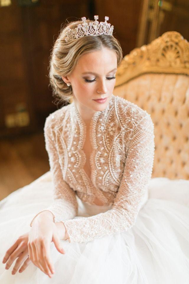 glamorous bridal photo idea
