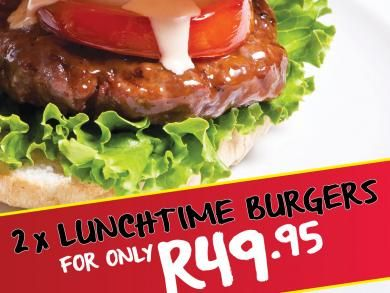Mikes Kitchen Wonderpark - 2 x Lunchtime Burgers ONLY R49.95