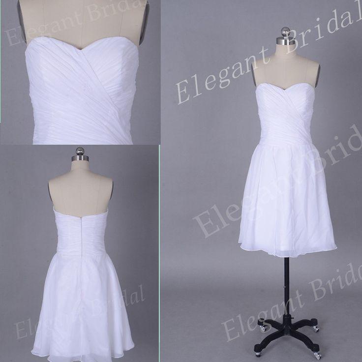 Стили открытые плечи белый платья подруги невесты плиссировка трапециевидный шифон короткая пром ну вечеринку платья