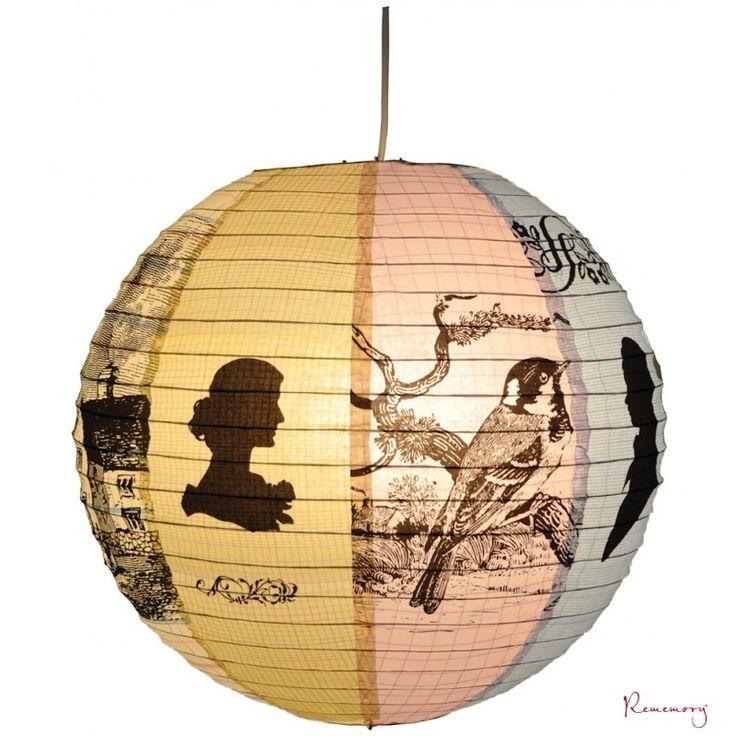 Handgemaakte papieren lamp - Droomhuis | Blue Q | Rememory