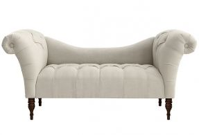 Would be lovely at the end of our King size bed. Cameron Tufted Chaise, Talc on