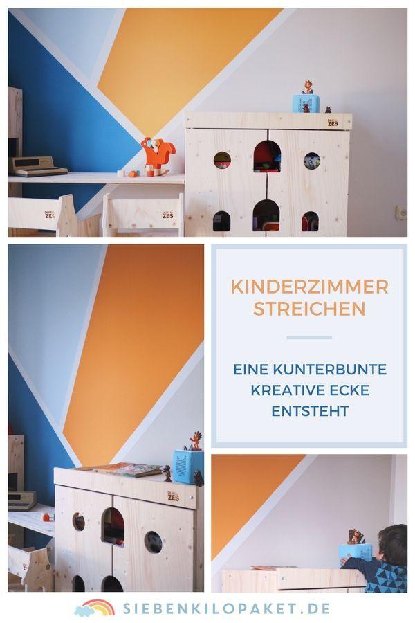Wandgestaltung im Kinderzimmer – eine kunterbunte, kreative Ecke für den großen Jungen (Werbung