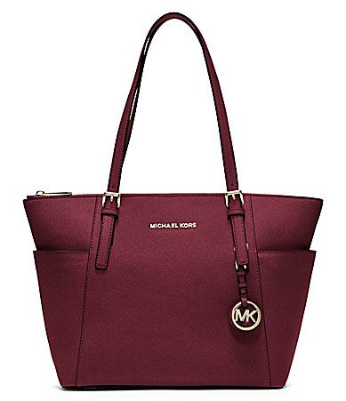 MICHAEL Michael Kors Jet Set Top Zip EastWest Tote #Dillards. Green or purple-ish color