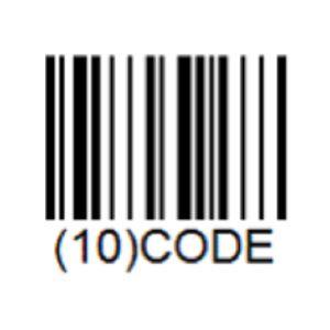 Lector de códigos de barras GS-1 codificación 128