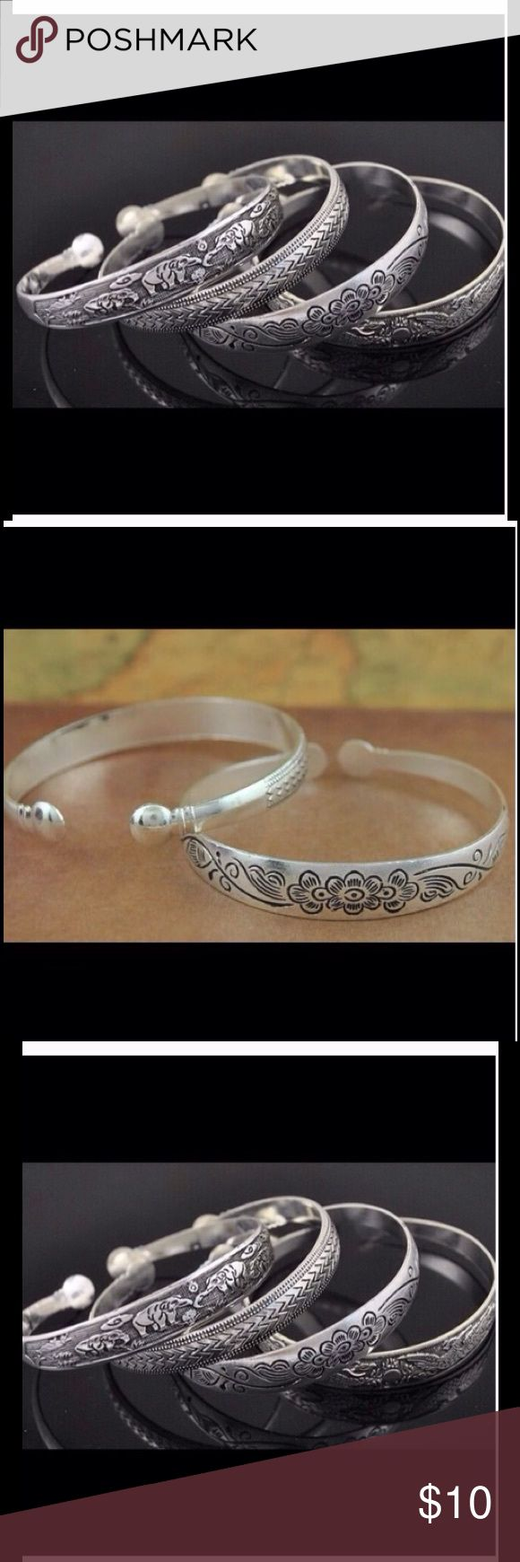 Gypsy boho bangle jewerly tribal ehnic❣❣ Boho bangle antique silver plated 6 different design, the price is for each Jewelry Bracelets