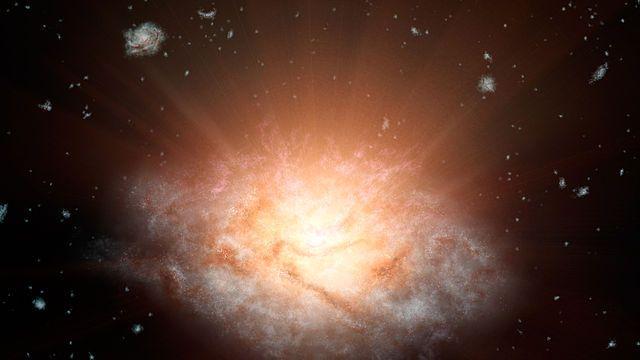 """Un articolo pubblicato sulla rivista """"The Astrophysical Journal"""" descrive una ricerca che suggerisce che nelle galassie primordiali del tipo chiamato starburst oscurate, perché la polvere ne filtra la luce, l'attività di formazione stellare può essere inibita dalla presenza di un quasar. Un team di astronomi dell'Università dell'Iowa ha usato il radiotelescopio ALMA per localizzare i quasar e successivamente altri telescopi per osservarli a varie lunghezze d'onda. Leggi i dettagli…"""