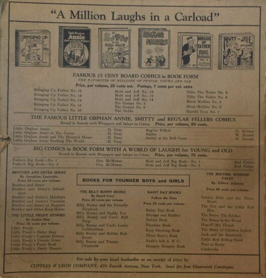 Front advertising page