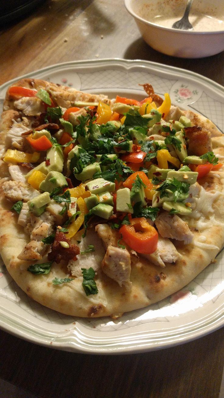 California Chicken Flatbread With Chipotle Ranch [OC