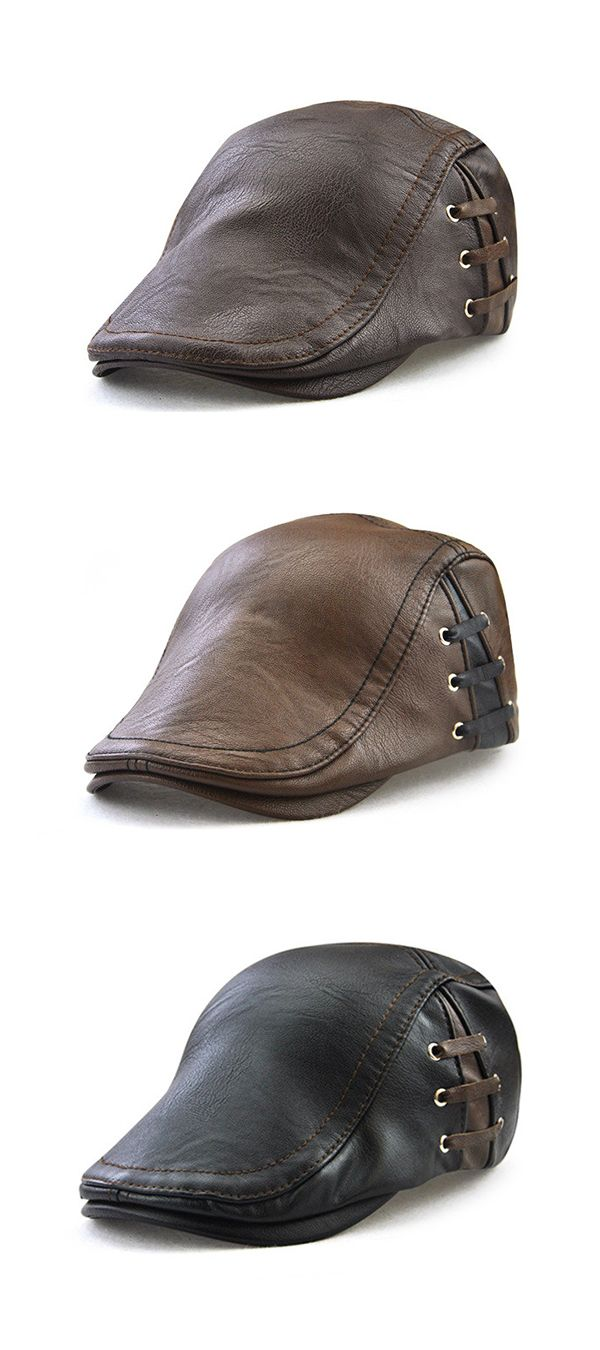 Men Lace-up Beret Caps: Casual / Outdoor / Warm / Windproof