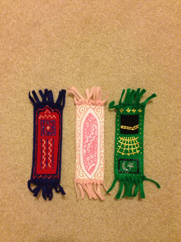 prayer mat bookmark felt + fabric paint