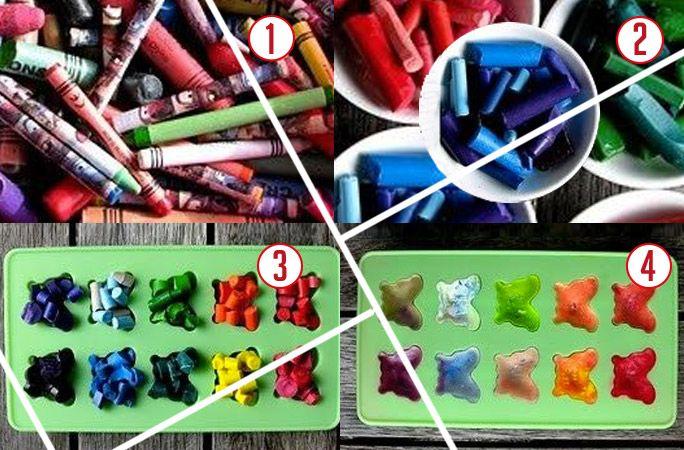 Lavoretti fai da te per bambini con pennarelli.