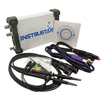 ISDS205B 5 in 1 Multifunctional PC Based USB Digital Oscilloscop + Spectrum Analyzer + Data Recorder + DDS+Sweep 20M 48MS/s