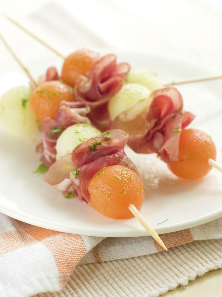Meloen met rauwe ham stock2