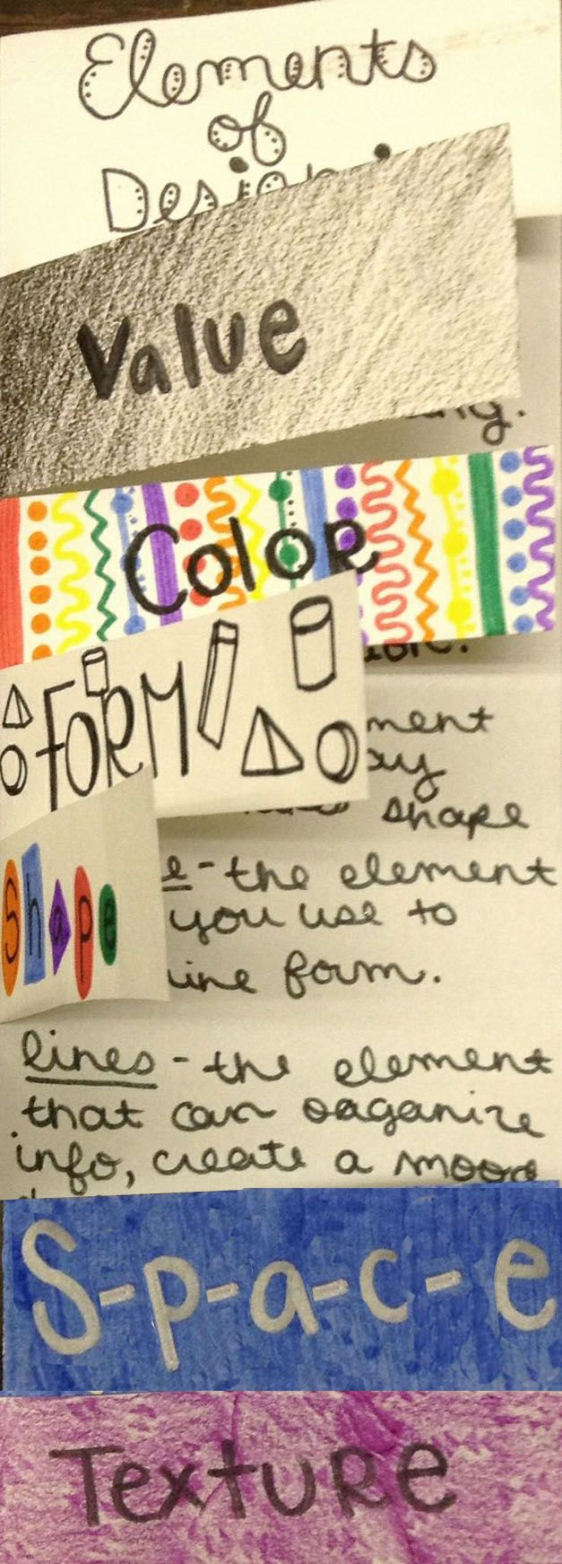 10 Elements Of Art : Images about elements of art flip chart on pinterest