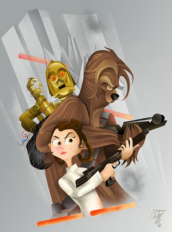 Fantastic Star Wars artwork by Dave Moss