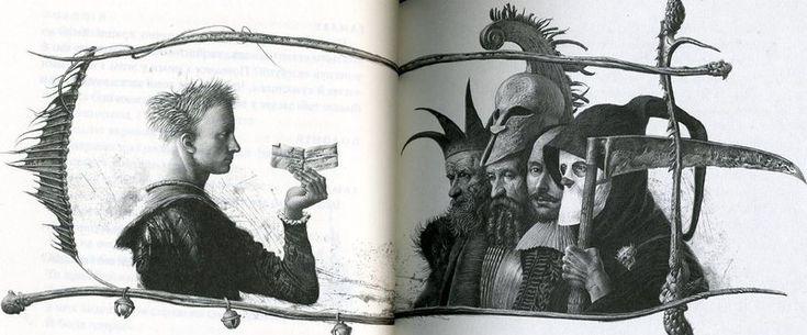 """Illustration by ukrainian illustrator Vladislav Yerko for """"Hamlet, prince of Denmark"""" by William Shakespeare"""