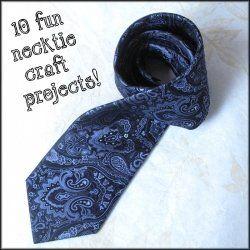 ten fun crafty tutorials using men's neckties  #ties #upcycle #craft #ideas #projects #diy