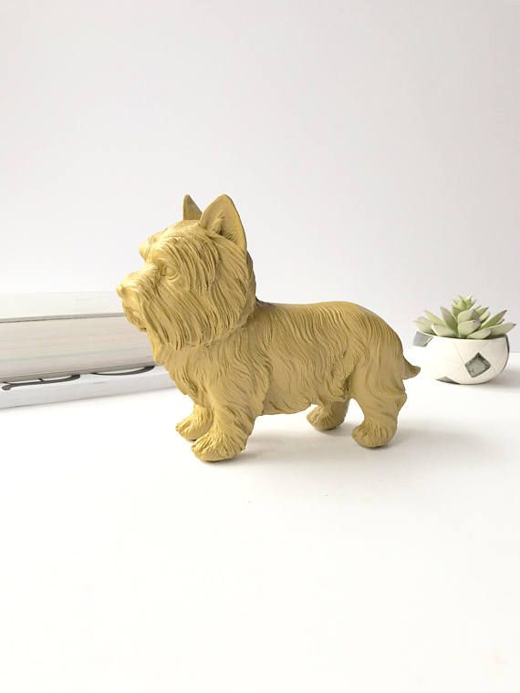 YOSEMITE YELLOW SMALL Terrier Dog Statue for Table top Animal
