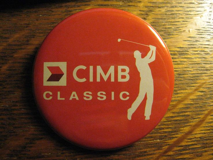 CIMB Classic PGA Golf Tournament USA Golfer Advertisement Pocket Lipstick Mirror
