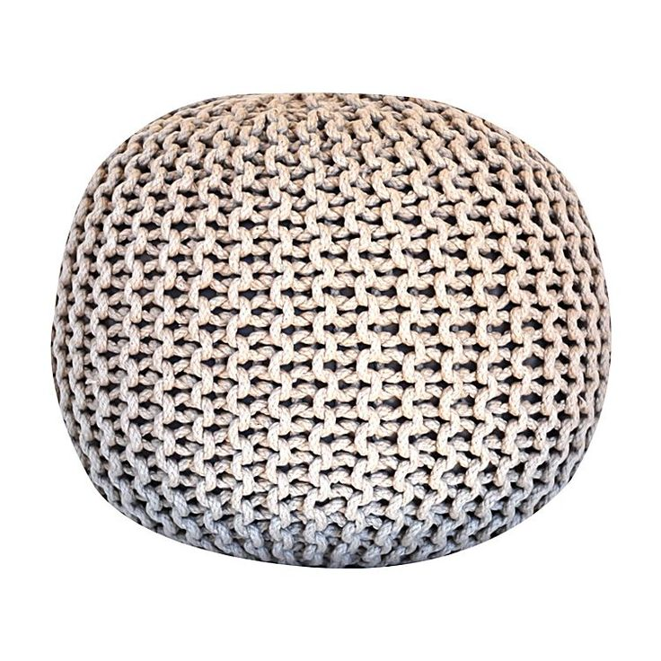 Style your space with cosy comfort and texture in the woven Retro Cotton Cord Ottoman from Artisan Decor.