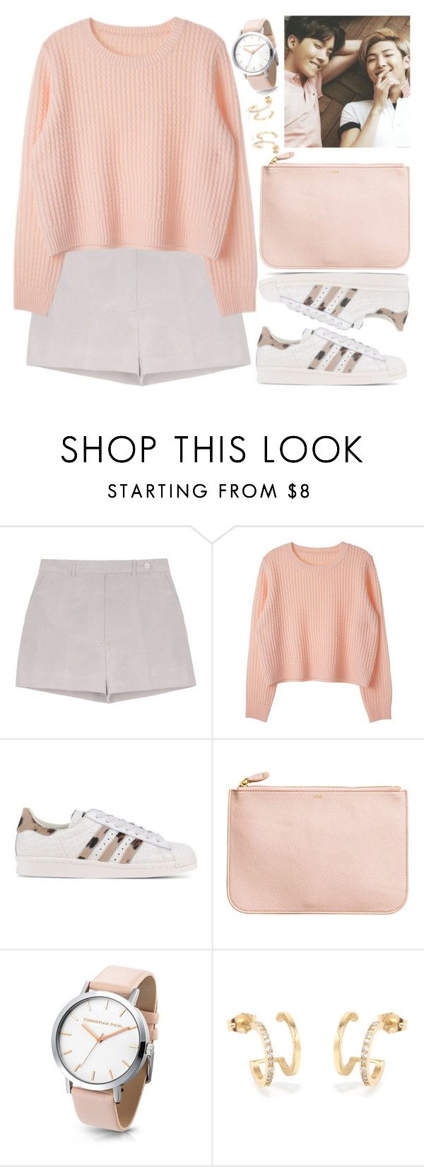 """""""J-Hope and Rap Monster (BTS)"""" by evil-maknae ❤ liked on Polyvore featuring Rochas, adidas Originals and H&M"""