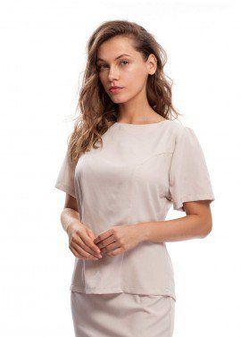 Summer Blouse, Clothes for Women, Cream Shirt