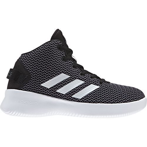 Adidas Boys' Cloudfoam Refresh Mid Basketball Shoes (Core Black/Footwear White/Grey, Size 5.5) - Youth Basketball Shoes at Academy Sports